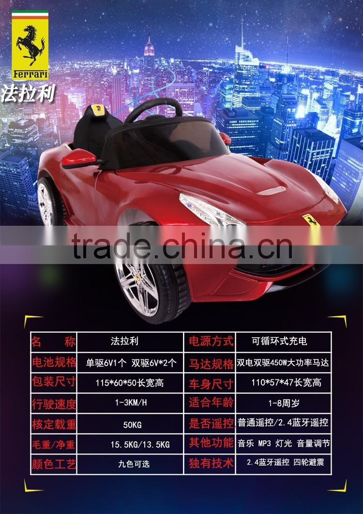 Cool model ride on car with MP3 music,Electic ride on toy car for kids