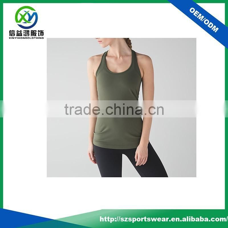 2017 Hot selling skin-friendly comfortable bamboo fabric yoga wear tank top women singlet
