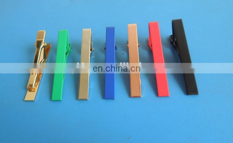 custom various personalized logo metal tie clip bar for promotion