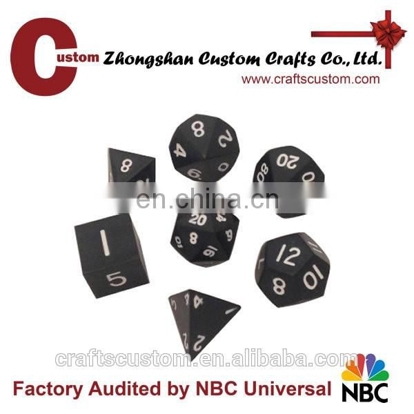 Custom RPG metal zinc games dice
