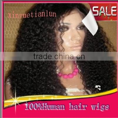 100% Virgin Brazilian Human Hair Curly Full Lace Wigs / Lace Front Wigs Glueless For Black Women High Quality Human Hair Wigs
