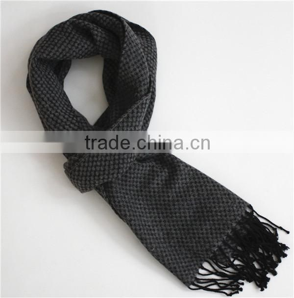 Black and Grey Wool Scarf