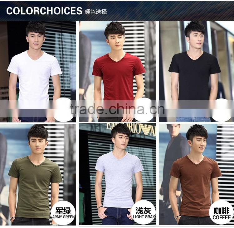 2016 new China Manufacturer cotton Slim Fit man t-shirt