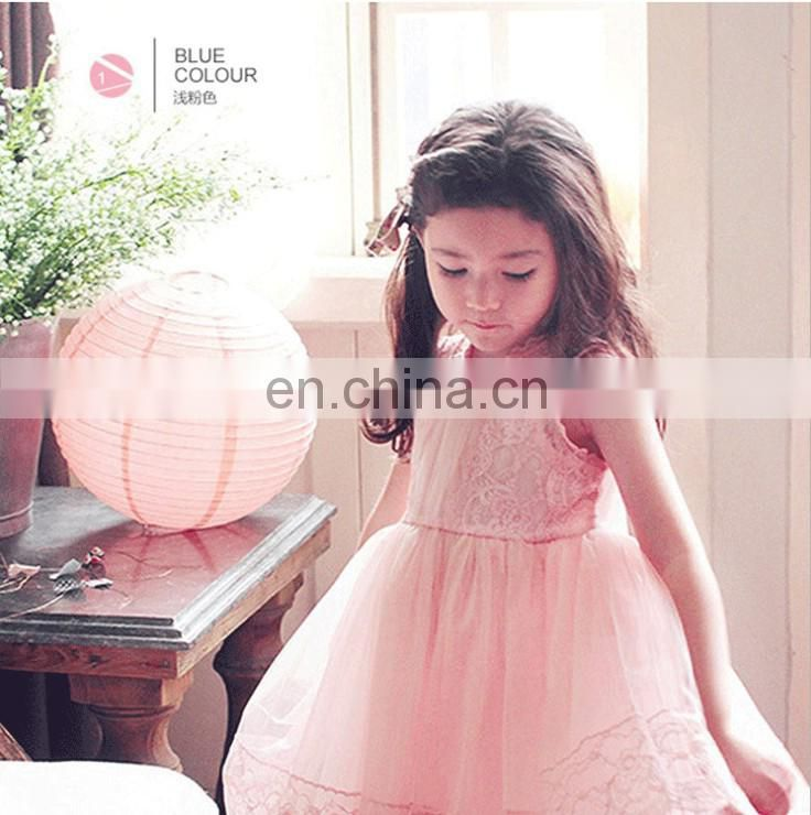 White Sleeveless Flower Girl Dress Tea Length First Communion Dress