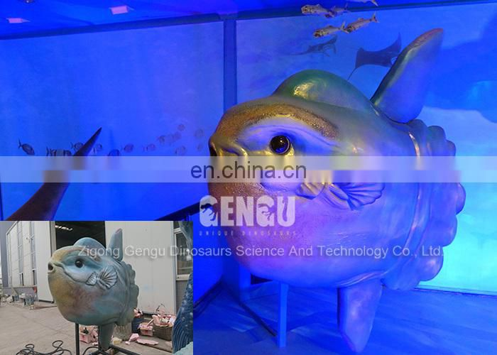 Theme Park Decoration High Quality Handmade Rubber Blue Fish Model