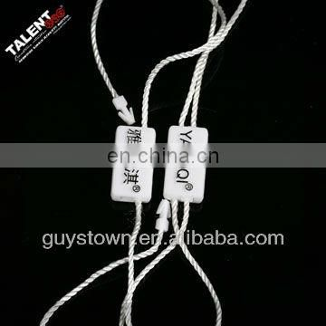 custom printed brand name logo plastic string for clothing hang tag