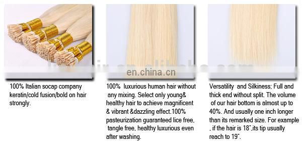 Private Label Top Quality No Shedding No Tangle Last Long Remy virgin itip hair extensions