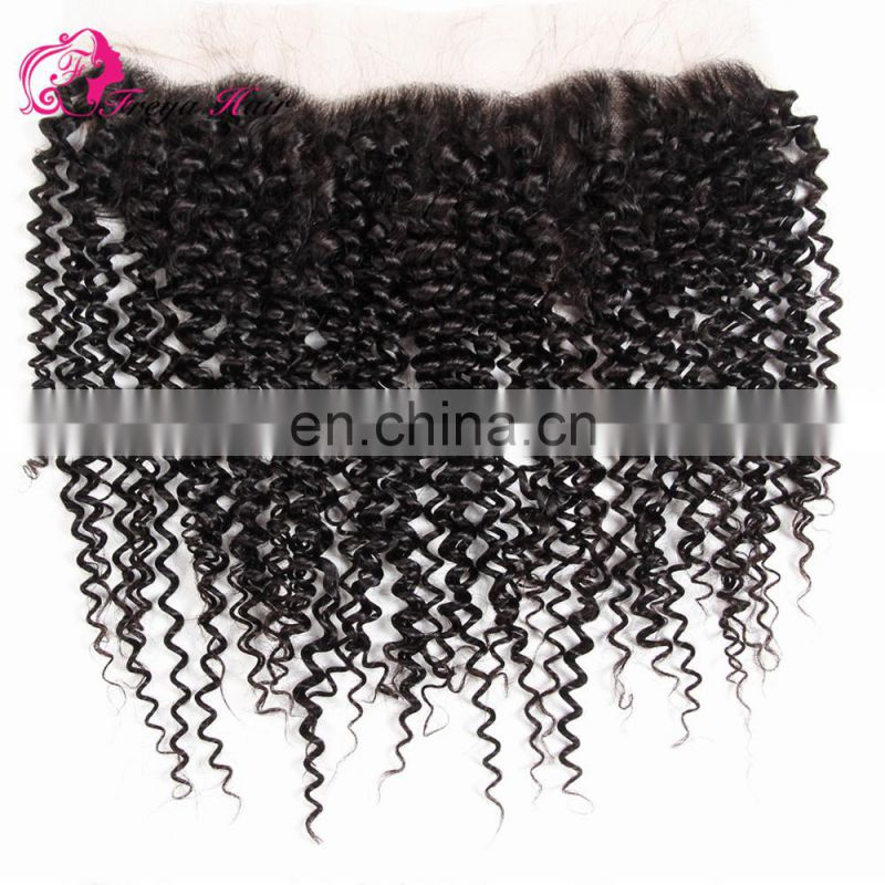 7a unprocessed virgin peruvian hair KINKY CURL silk top lace frontals