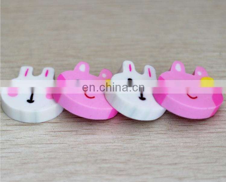 Mini rabbit eraser animal pencil topper