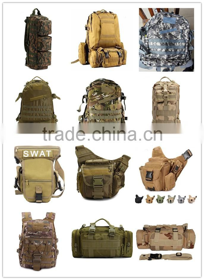 Outdoor large waterproof sport camouflage backpacks tactical