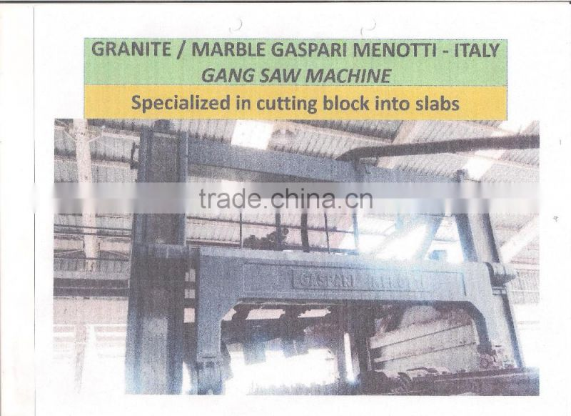 GRANITE /MARBLE GASPARI MENOTTI MACHINE FROM ITALY AUTOMATIC POLISHING LINE MACHINE PGM/2200/016MKI