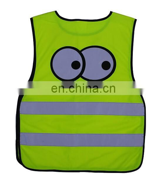 Green&silver reflective safety vest for road safety