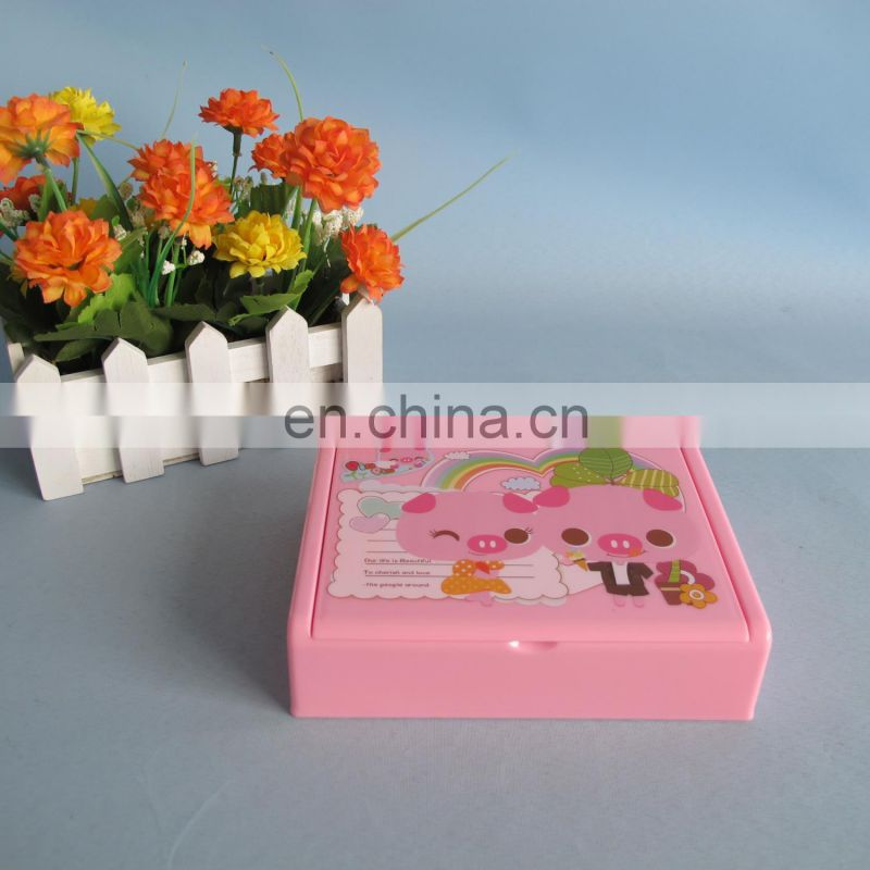 2014 new product decorative plastic folding makeup mirror