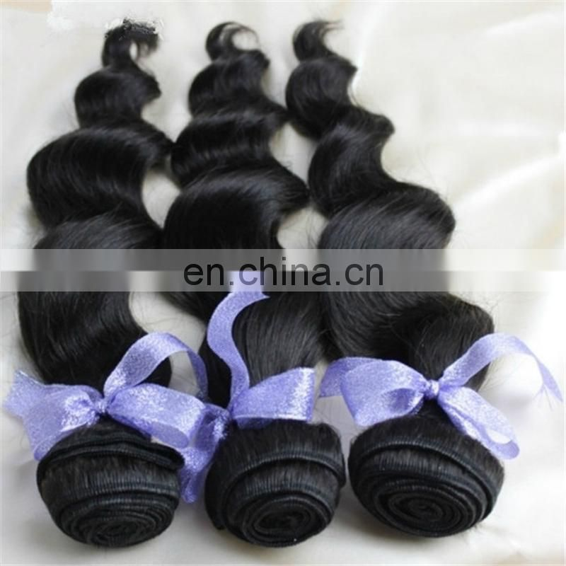 Wholesale virgin loose wave human hair weave