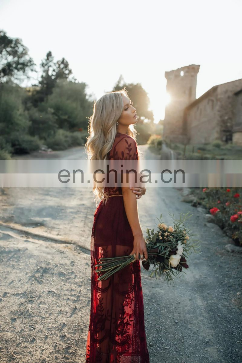 2017 Lace Evening Summer Long Dress
