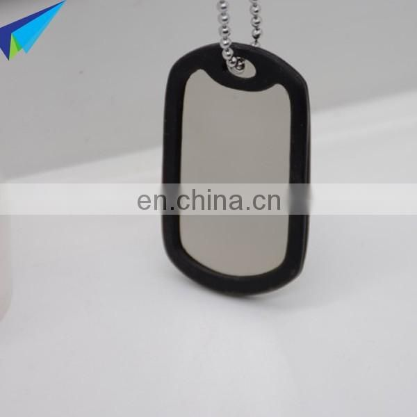 High quality designer military dog tags with metal chain