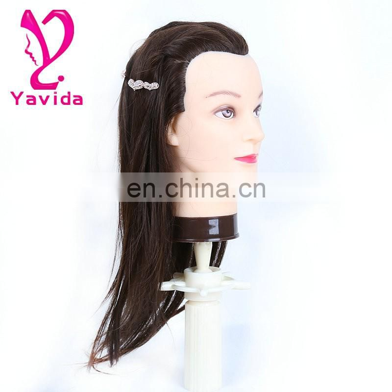 Real Human Hairdressing Training Head Cosmetology Mannequin Head