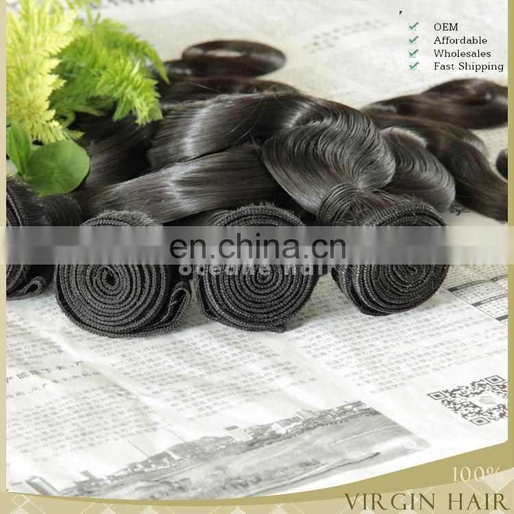 High Quality Brazilian Hair bundles unprocessed 100 human hair weave brands