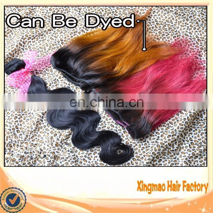 2014 Wholesale Factory Price Brazilian Virgin Ombre Pink Hair