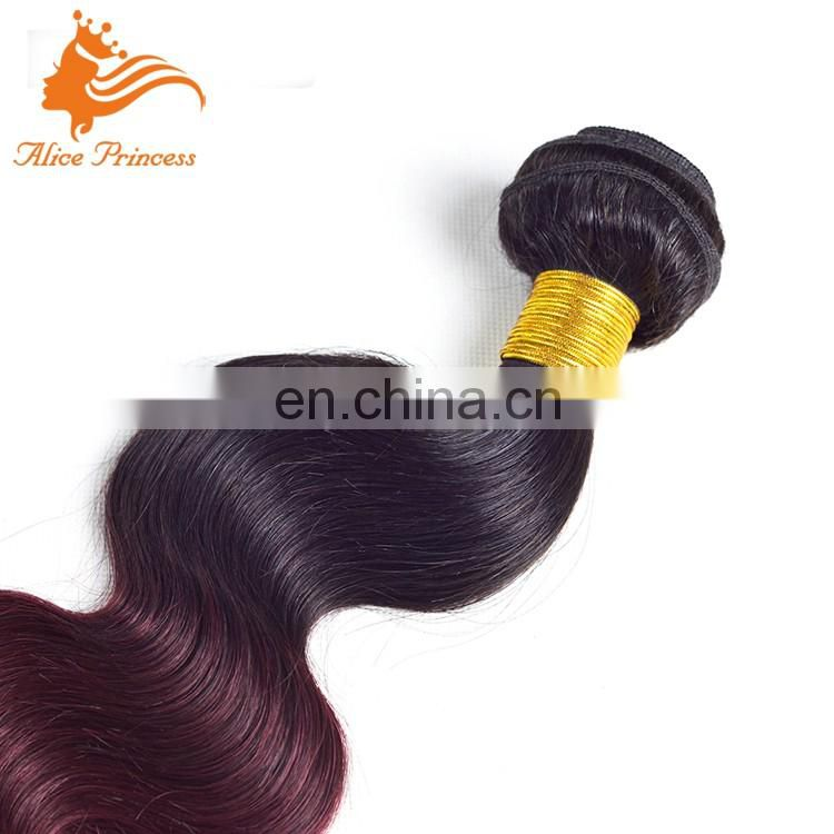 Best Factory Popular Ombre 99J Hair wholesale Pre Braided Cambodian Hair Weft Tangle Free No Shed Extensions