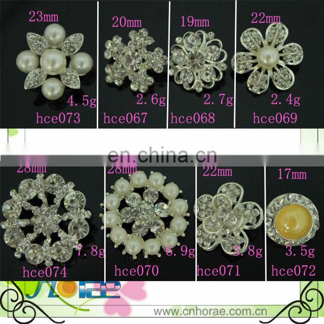 wholesale 2.2cm round shape rhinestone button cover