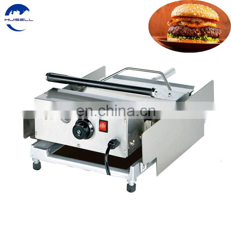 Electric Hamburger bun toaster/ Hamburger grill patty machine for sale Image