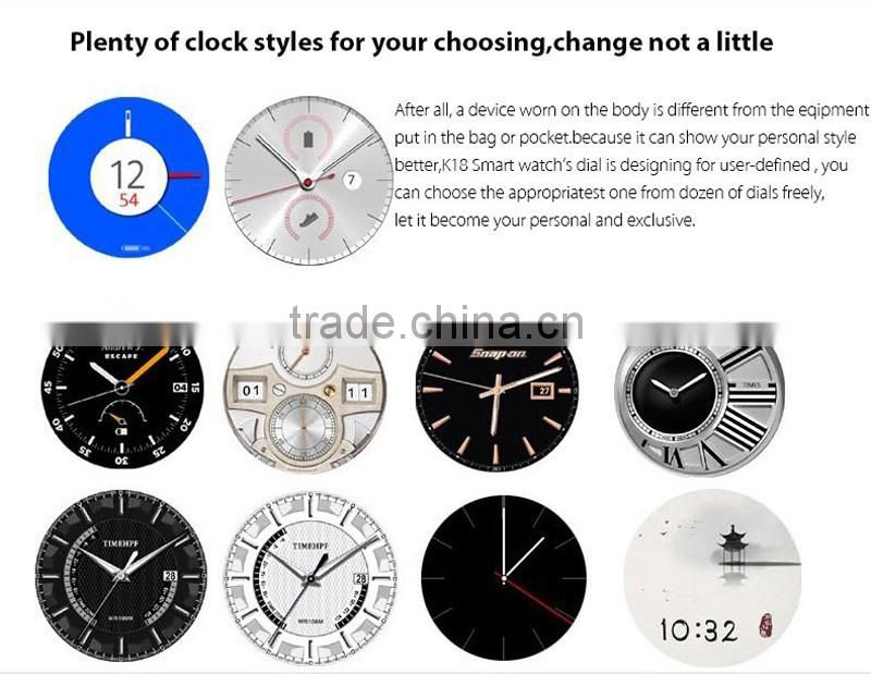 Shenzhen Factory new design popular Sedentary remind smart watch k18
