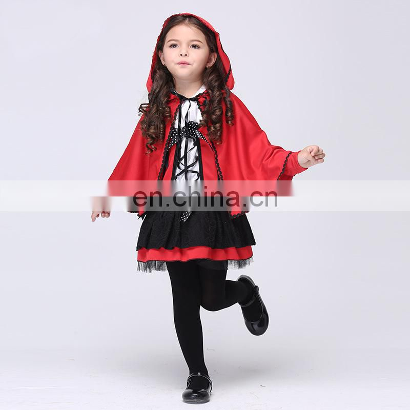 Party Time Hot Sale Kids Orange Witch Cosplay Halloween Witch Costumes for Girls