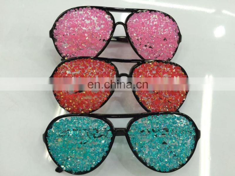 fashion multicolor party sunglasses with diamond