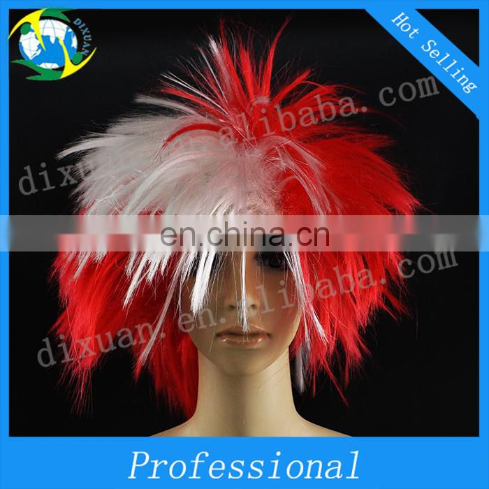Canada color Manufacturer Wholesales soccer Fans Wigs For Wholesale