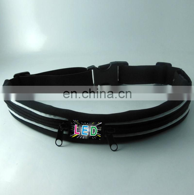 led safety belt led reflective belt led light belt with pounch