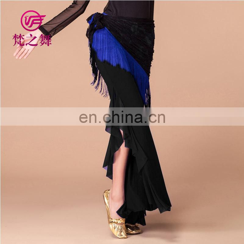 Tribal elegant long milk silk soft belly dance pants for women K-4035#