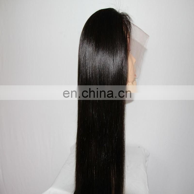 Silk straight style full lace human hair wigs with virgin brazilian hair overnight delivery
