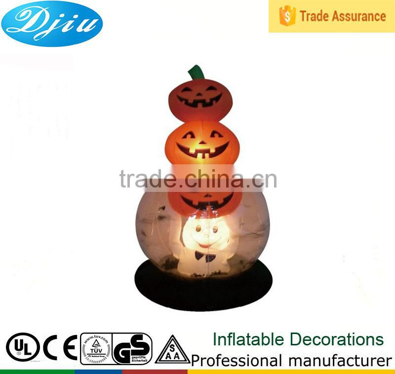 DJ-201 2015 hot commerical party inflatable Halloween pumpkin led lamp decoration