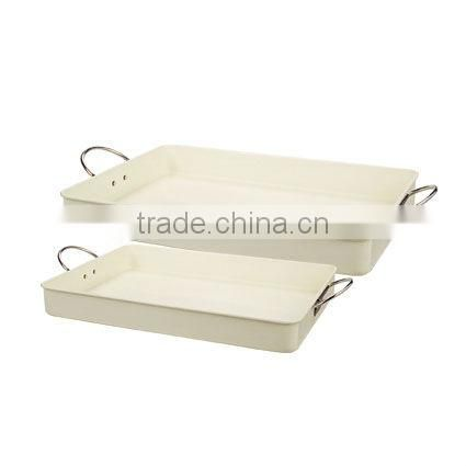 White Metal Serving Tray, Large Rectangular Tray/metal tray manufacturing company