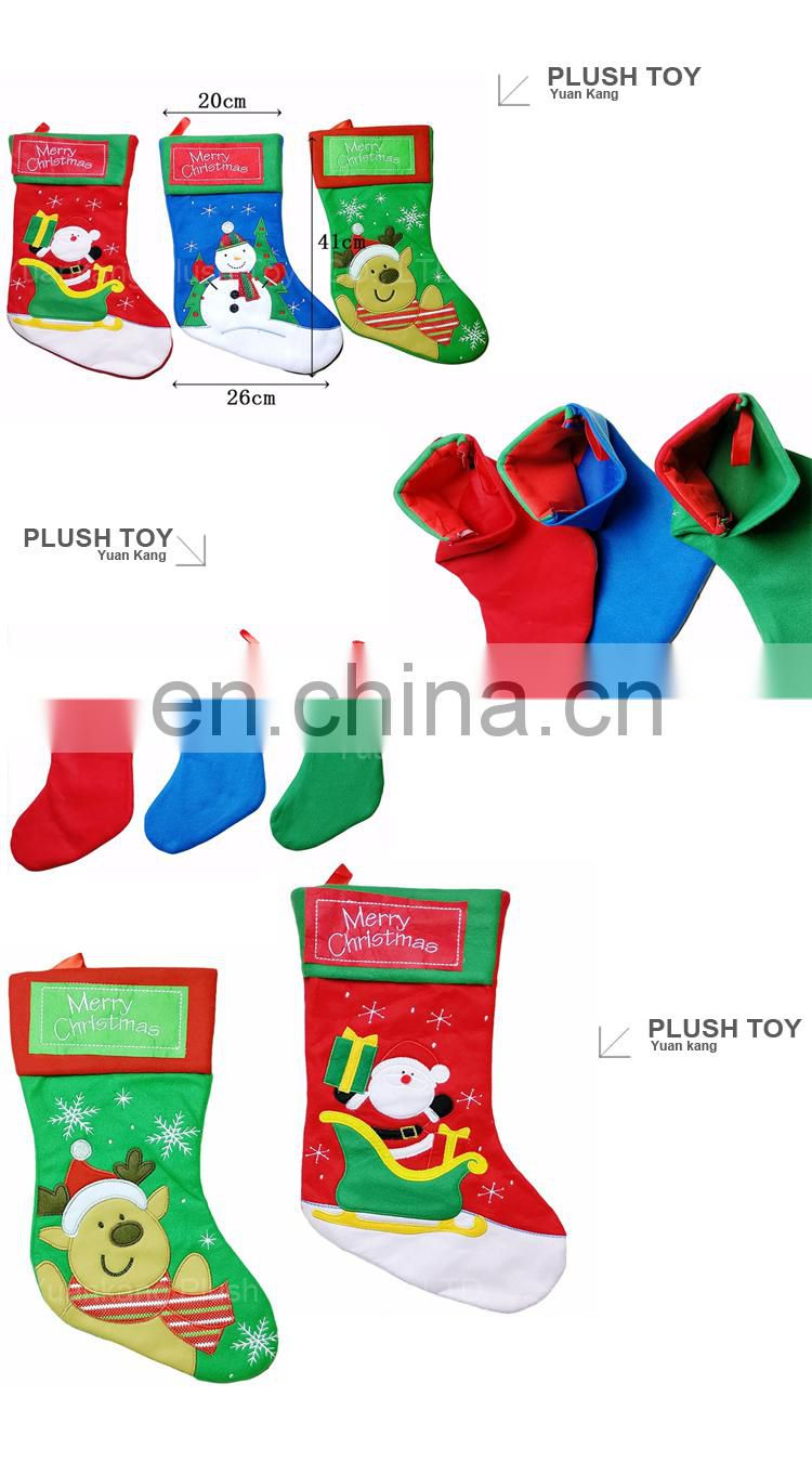 Wholsesale Gift Plush Santa Claus Costume Christmas Boots for Kids