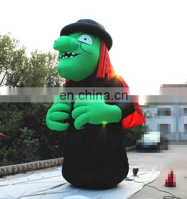 2018 hot sale giant inflatable witch,inflatable cartoon characters for advertising