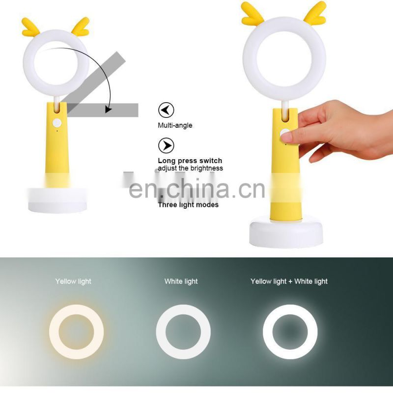 2017 Hot Sale Rechargeable Eye Protection Cartoon Led Night Light Cartoon Lamp