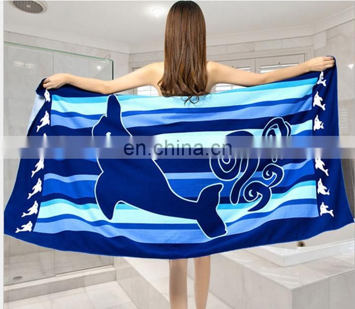China factory High quality printed microfiber beach towel spain