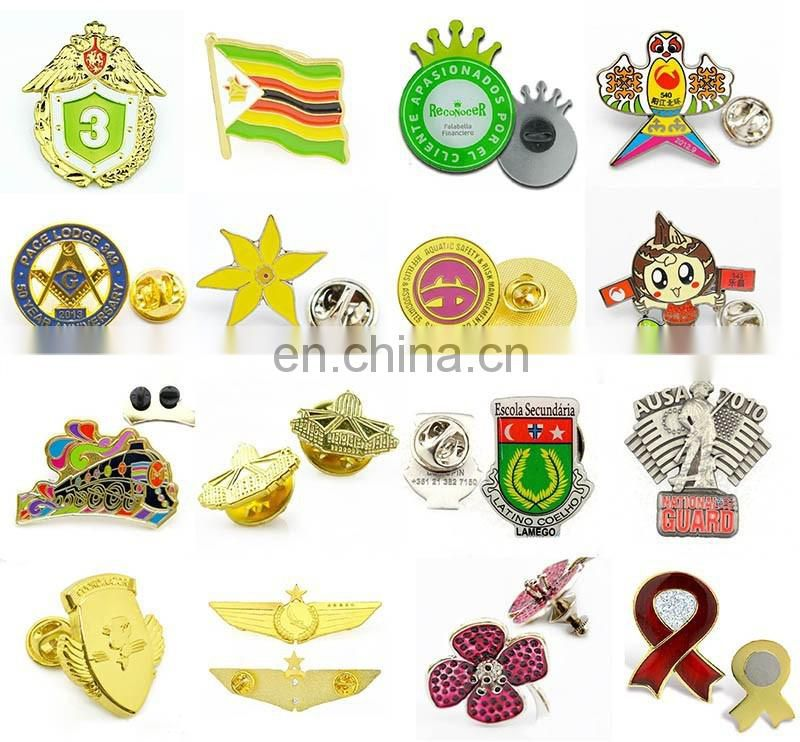 Newest design cool metal badge pins