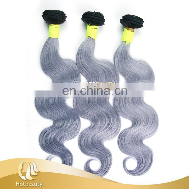 2015 new arrival 7a top quality Russian body wave virgin grey remy human hair weave