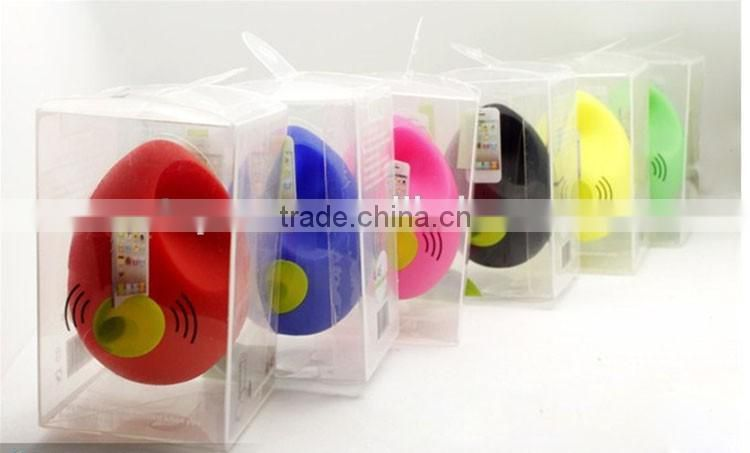 Shenzhen TOPONE Hot Selling Egg Shape Silicone Speaker For iPhone