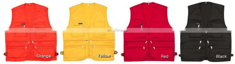 Apparel waistcoats hi vis blue luminous vests with pockets