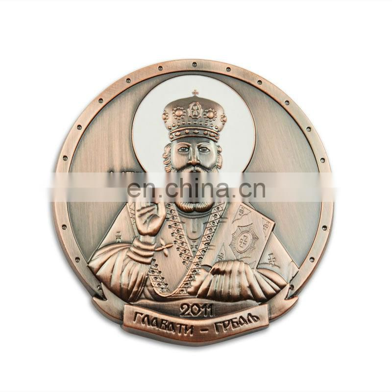 Promotional metal gold sovereign coin