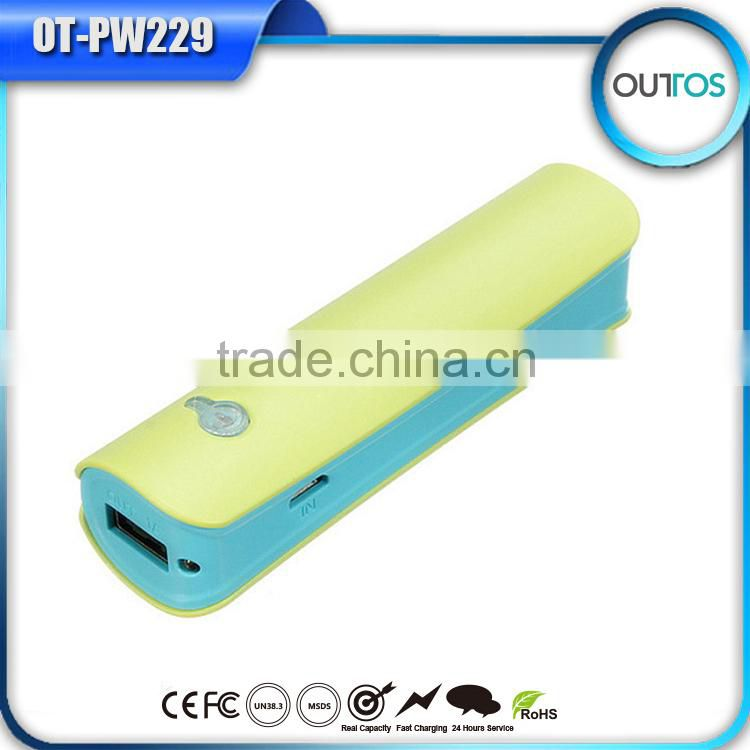 Newest 2600mAh power bank with personalized logo