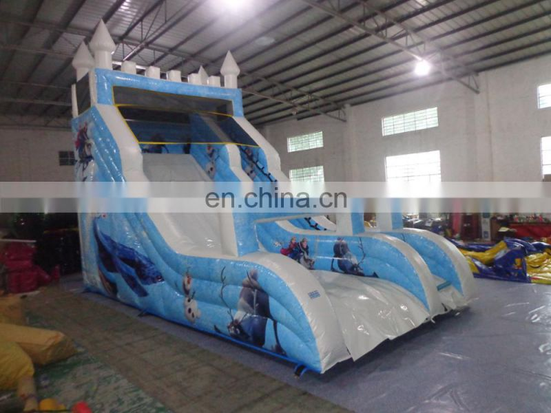 Hot Sales Slideway Frozen Theme commercial jumping castle