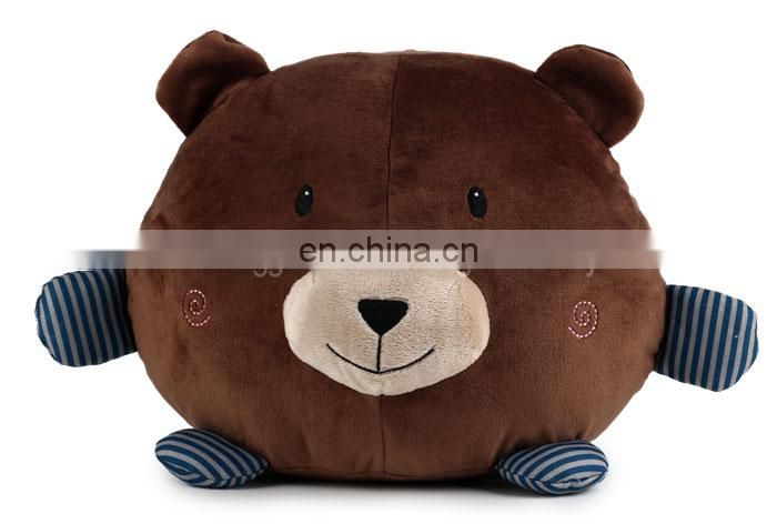 ICTI Audit factory high quality plush animal bear pillow
