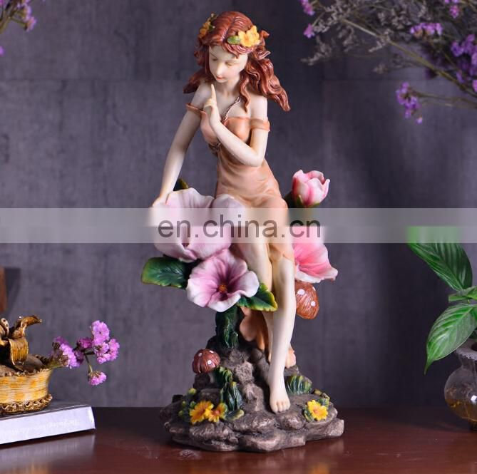 customized ornaments resin supplies miniatures resin fairy wholesale