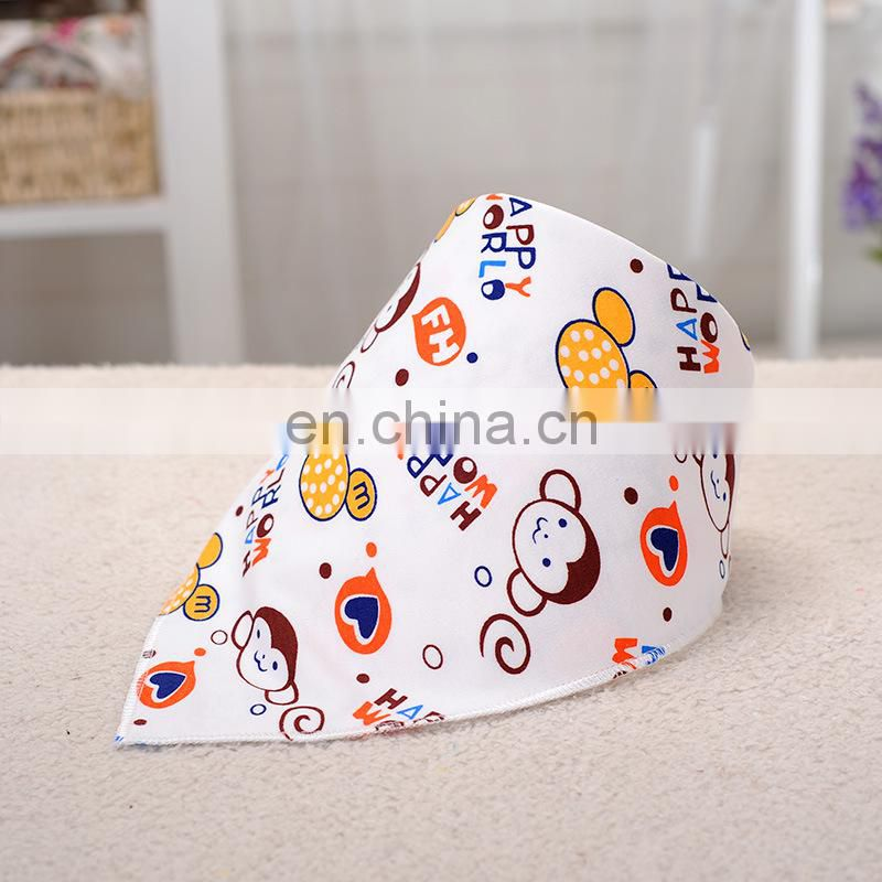 Waterproof cotton baby bandana drool bib cute soft wholesale price bandana bib