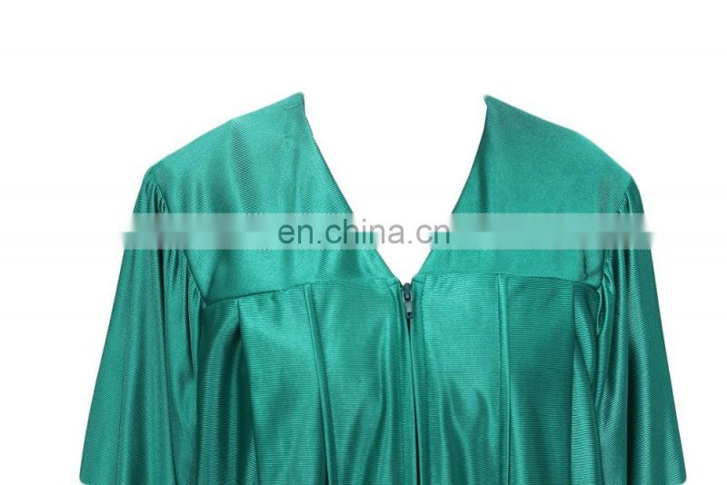Emerald Green Shiny Adult Academic Caps and Gowns